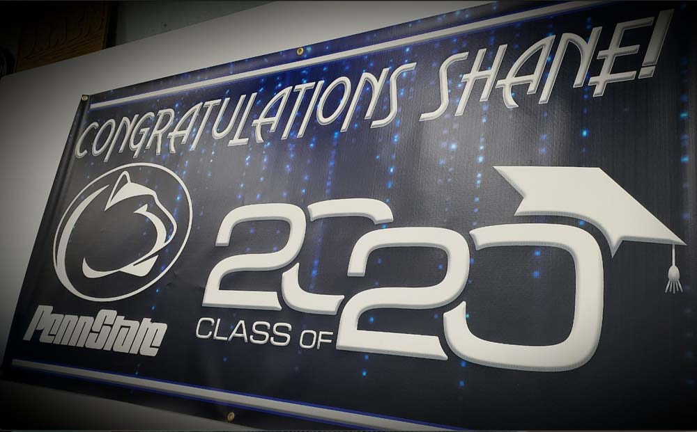 Congratulations Shane! 2020 Penn State Sign with logo