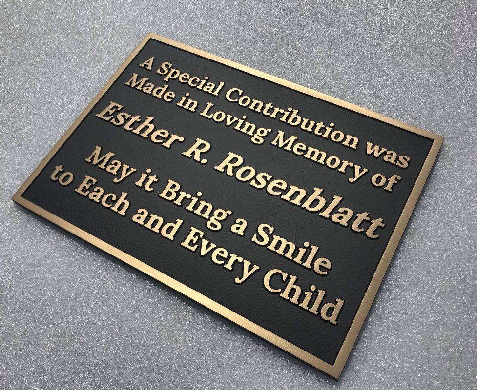 Esther Rosenblatt memorial plaque