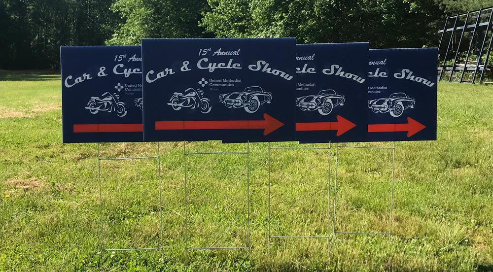 Car & Cycle Show lawn signs