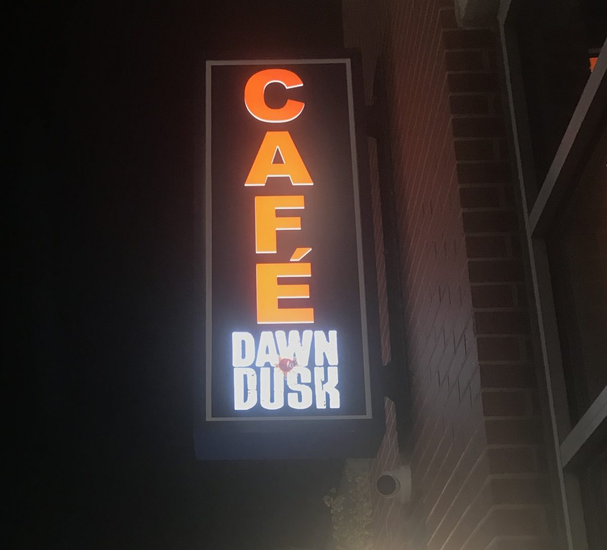 Cafe Dawn to Dusk at night