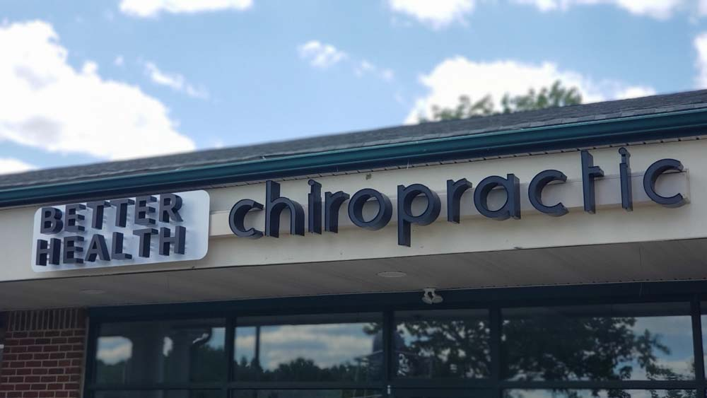 Better Health Chiropractic sign on building